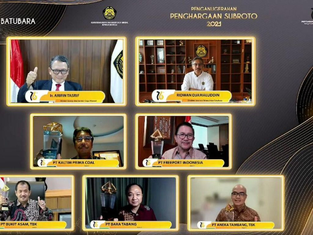 3 Anggota MIND ID Raih Penghargaan Subroto 2021