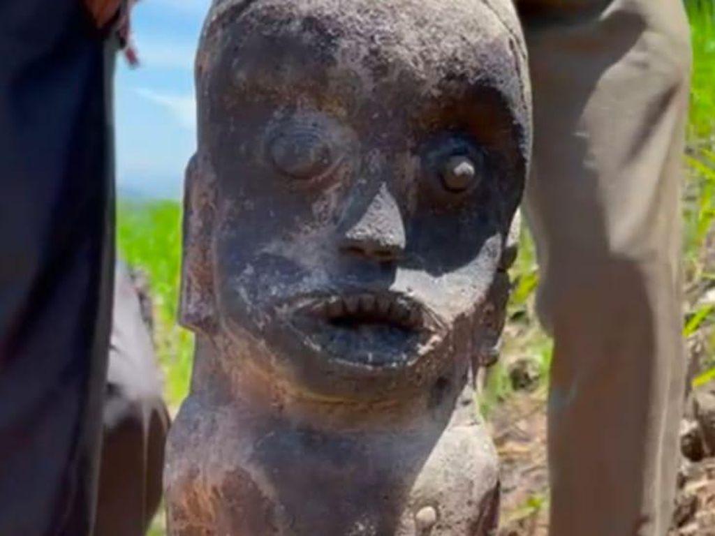 Tim Balai Cagar Budaya Diterjunkan Cek Patung Kuno di Labura