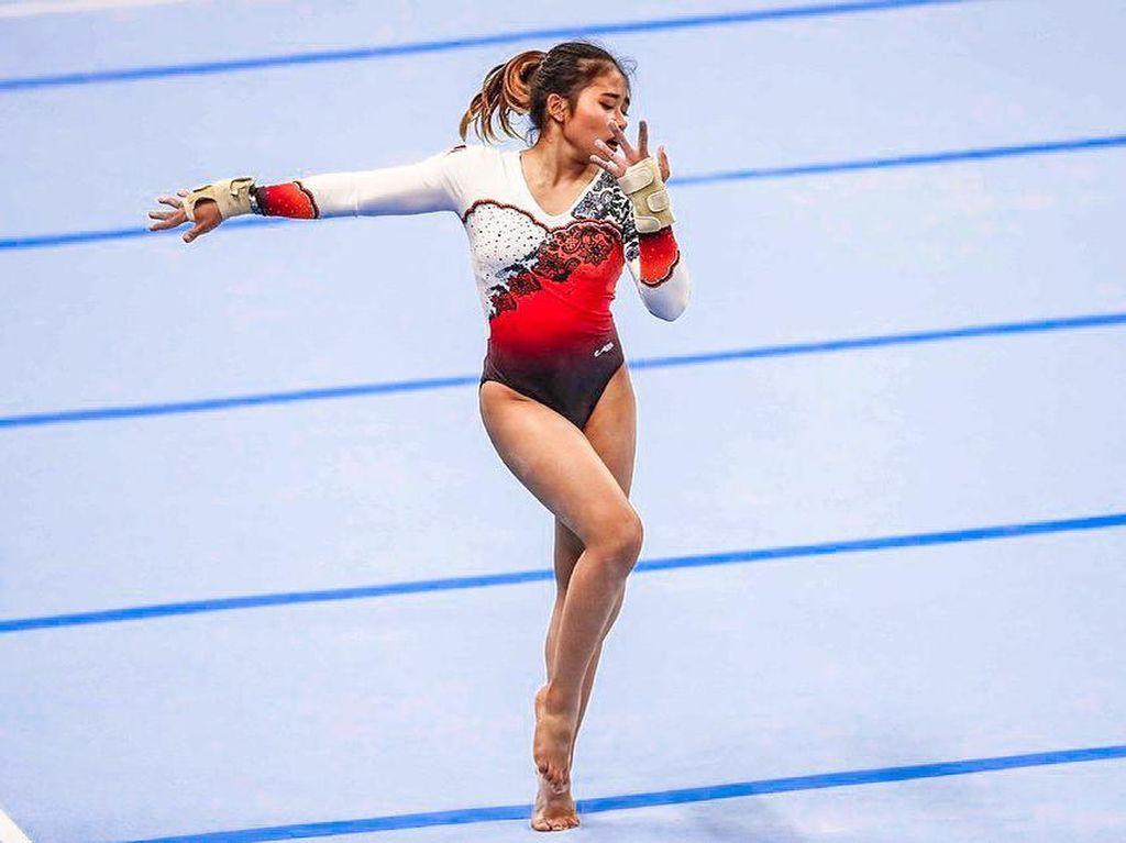 Potret Cantik Atlet Senam yang Bawa Pulang 4 Medali Emas di PON XX Papua