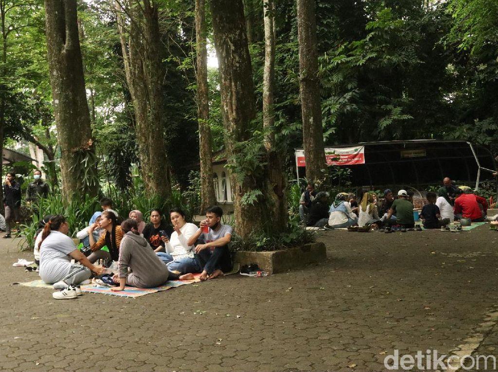 Suasana Botram di Tahura Bandung, Adem dan Nyaman