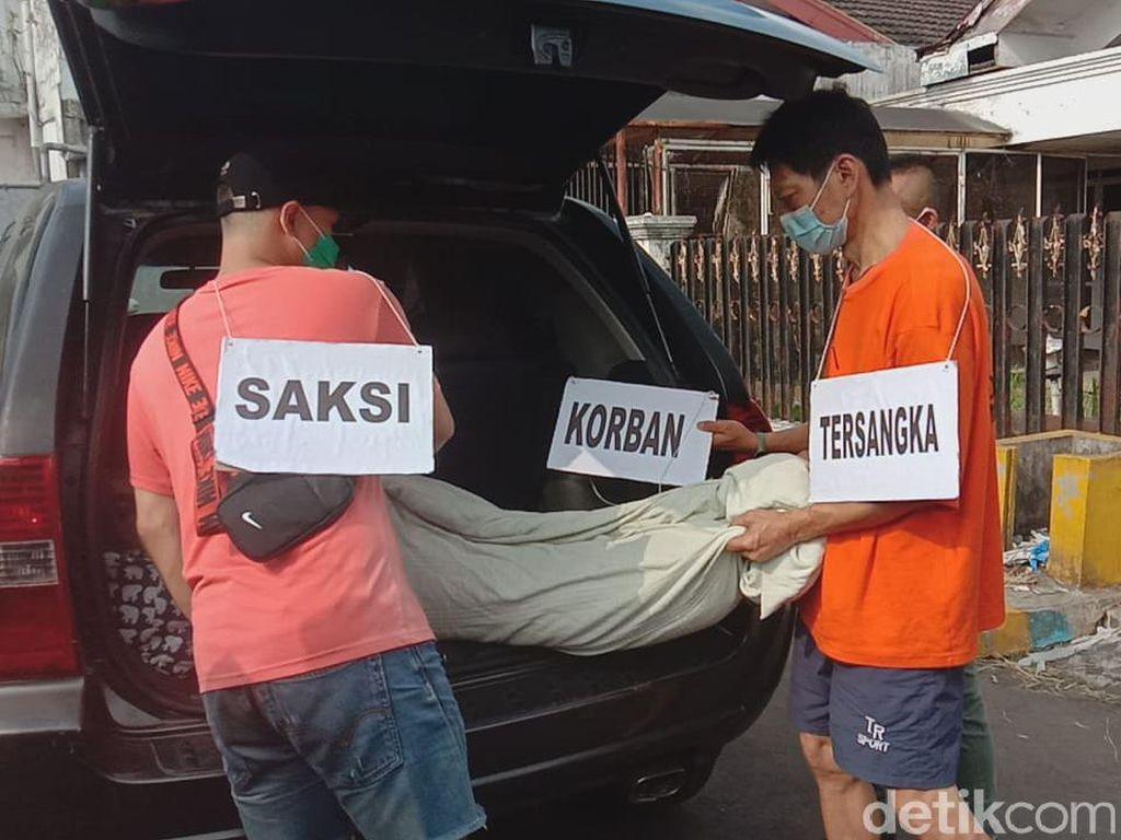 Pembunuhan Suami ke Istri Siri di Kota Malang Digelar, 55 Adegan Diperagakan