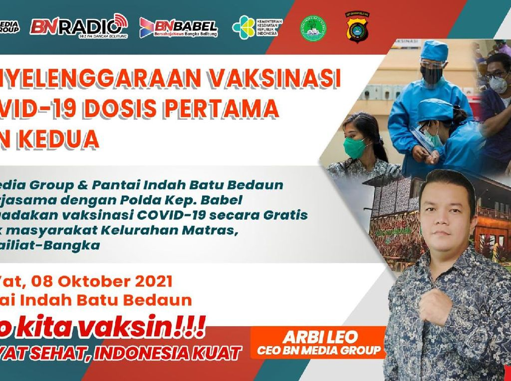 Arbi Leo Gelar Vaksinasi Massal di Bangka Belitung