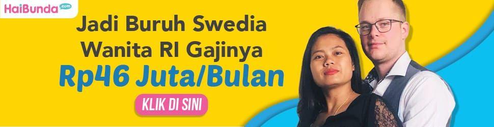 Banner Wanita RI jadi Buruh di Swedia
