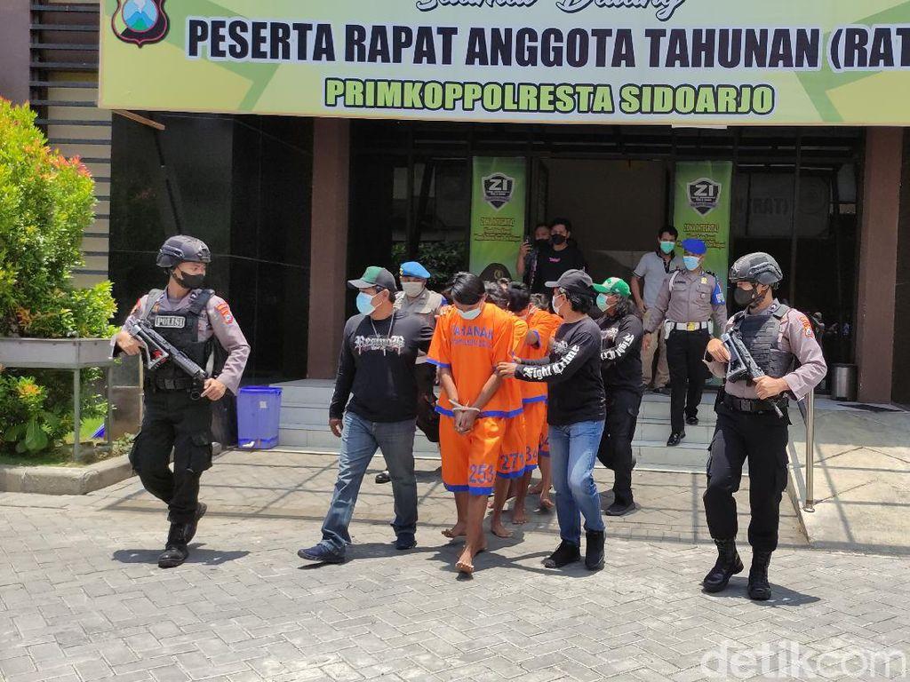 6 Pria di Sidoarjo Ditangkap dalam Kasus Pengeroyokan Berujung Maut