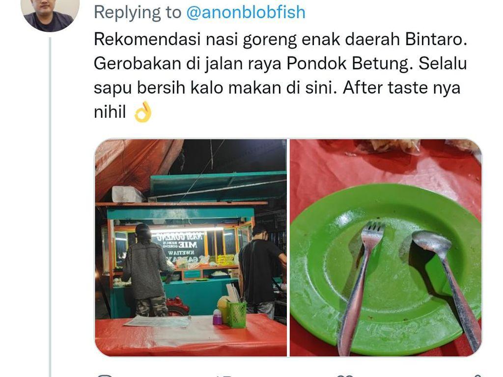 Ribut Nasi Goreng Dendeng Lemak, Netizen Justru Pilih Nasgor Abang Gerobakan