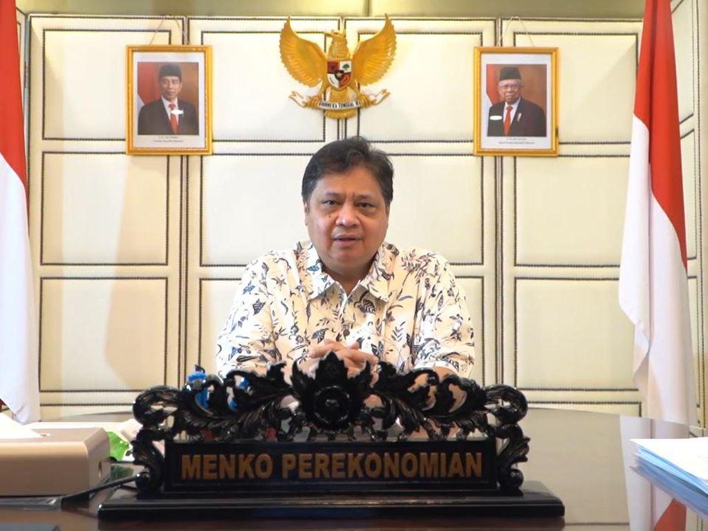 Menko Airlangga: Provinsi Luar Jawa-Bali Bebas PPKM Level 4