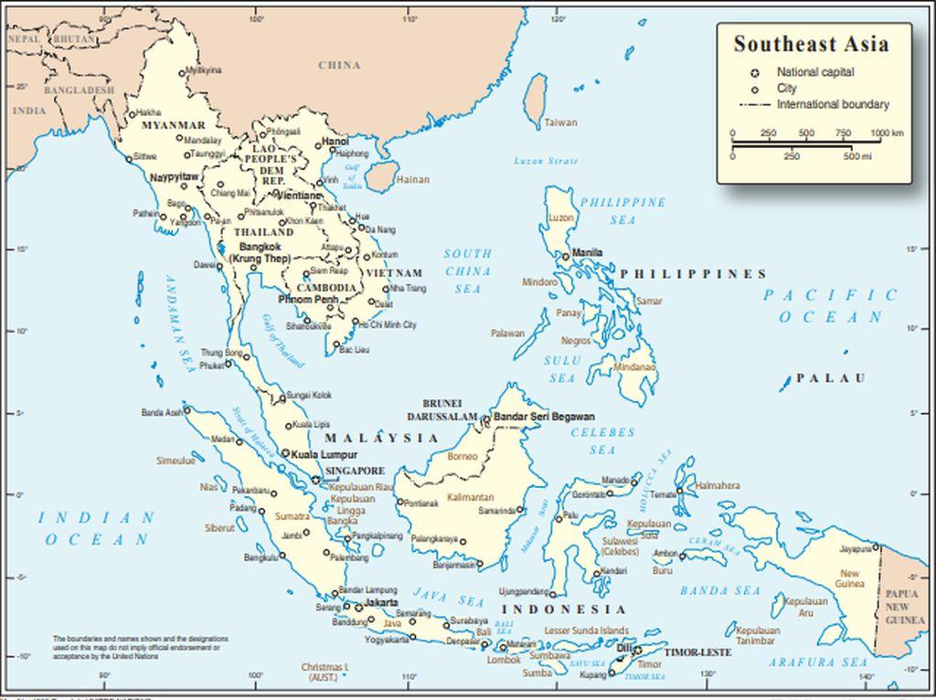 Batas Bentang Perairan Sebelah Barat Kawasan Asia Tenggara Lengkap