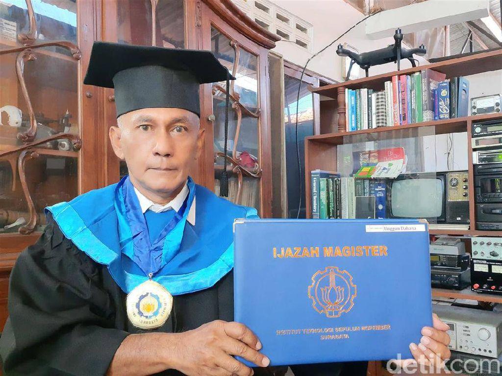 Unggun Jadi Wisudawan Tertua di ITS Usia 59 Tahun, Simak Kisahnya
