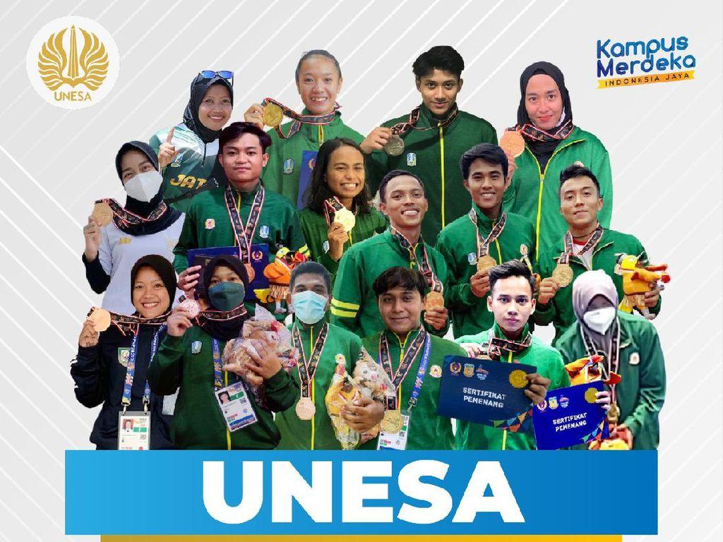 10 Atlet Unesa Boyong 9 Medali Emas di PON XX Papua, Optimis Salip Jabar