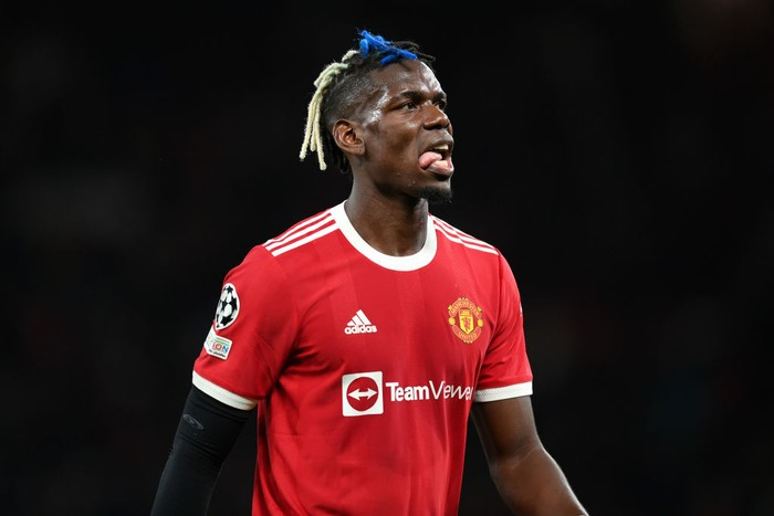 MANCHESTER, ENGLAND - SEPTEMBER 29: Paul Pogba of Manchester United looks on during the UEFA Champions League group F match between Manchester United and Villarreal CF at Old Trafford on September 29, 2021 in Manchester, England. (Photo by Michael Regan/Getty Images)