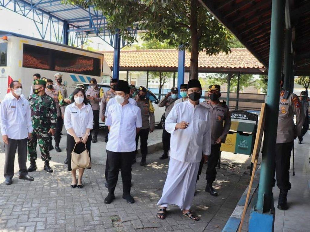 Simulasi Penerapan Prokes Haul KH Abdul Hamid Kota Pasuruan Digelar
