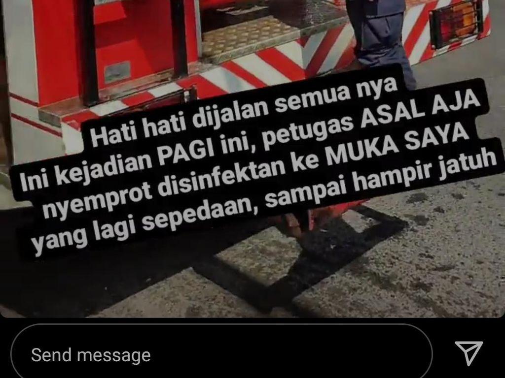 Warga Semarang Protes di Medsos Gegara Kena Semprot Disinfektan Damkar