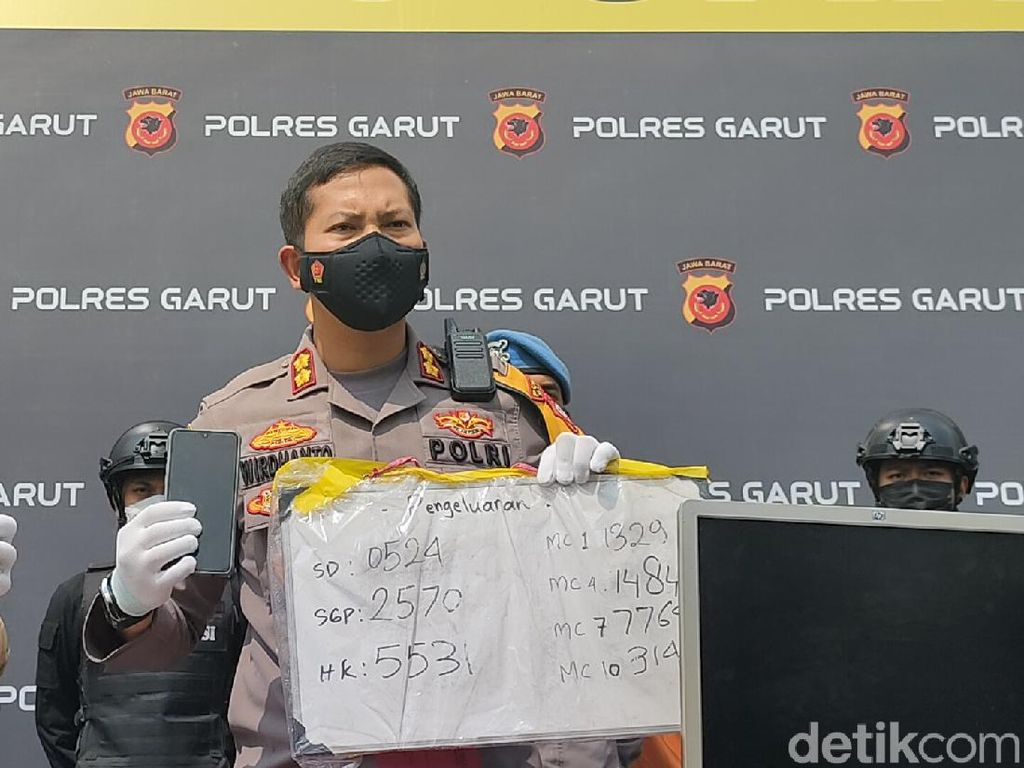 Polisi Bongkar Markas Judi Online di Garut