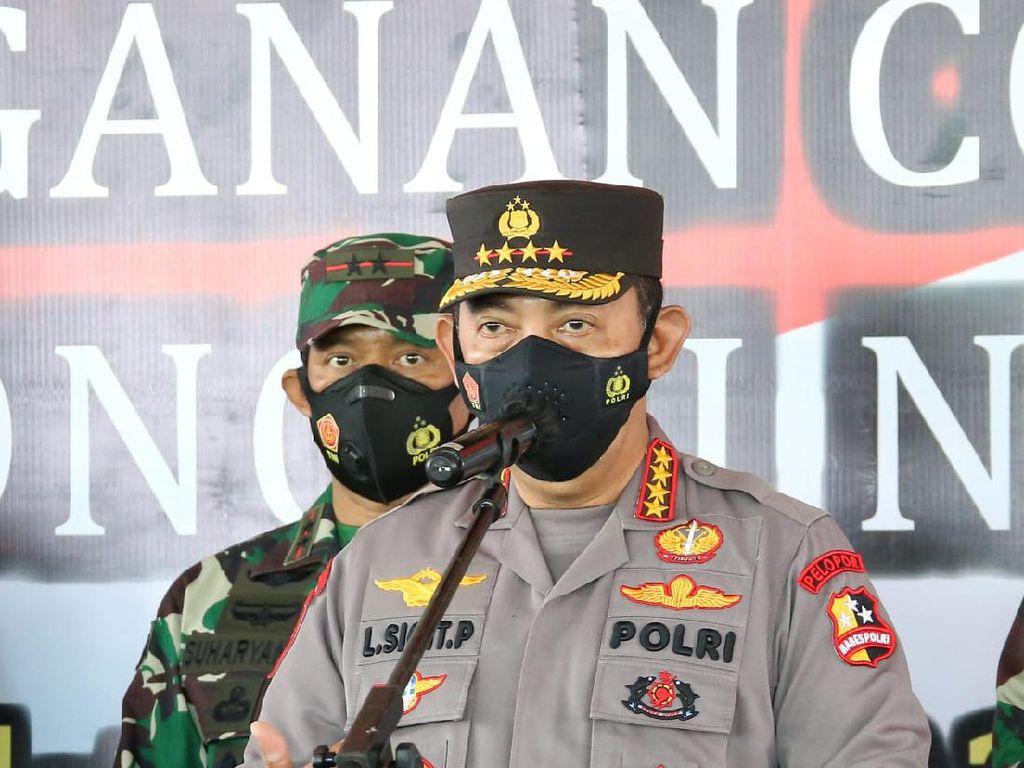 Gandeng PCNU Banyuwangi, Kapolri Kejar Target Jokowi 70% Vaksinasi