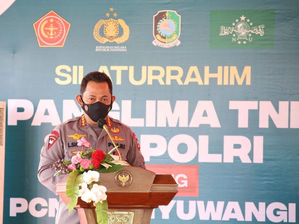 Silaturahmi dengan PCNU Banyuwangi, Kapolri Ajak Perkuat Penanganan COVID