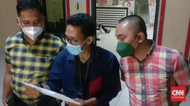 Korban pelecehan seksual Presma Untirta, resmi melapor ke Polres Serang Kota Rabu malam, 13 Oktober 2021.