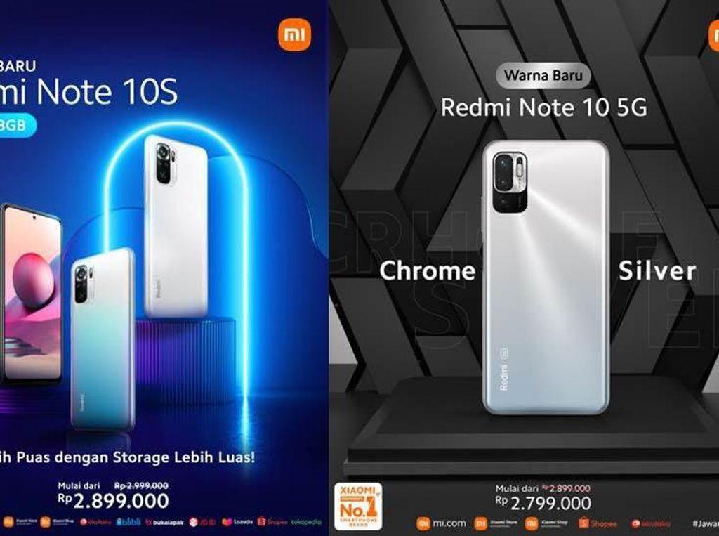 Redmi Note 10 5G & Redmi Note 10S Punya Varian Baru, Harganya?