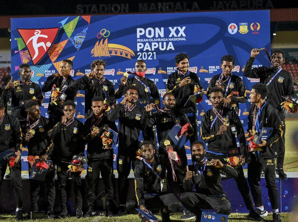 Tim Papua Juara Sepakbola PON 2021, Akan Dapat Bonus Rp 1 Miliar