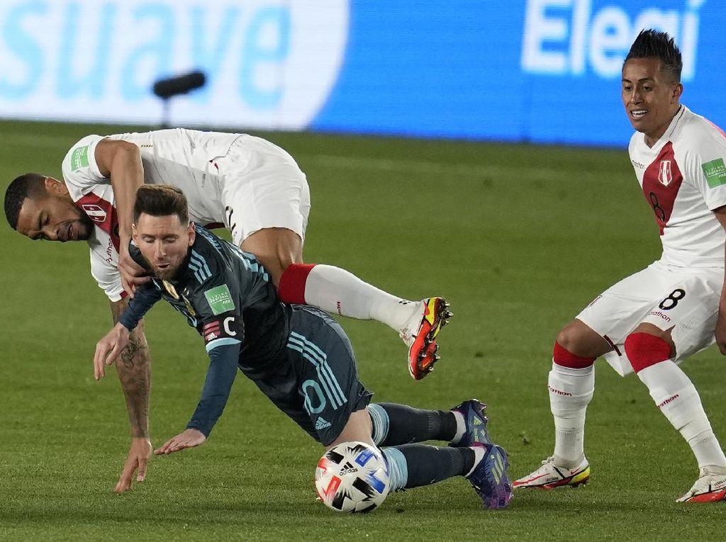 Argentina Menang Tipis atas Peru, Messi Tuding Ini ke Wasit