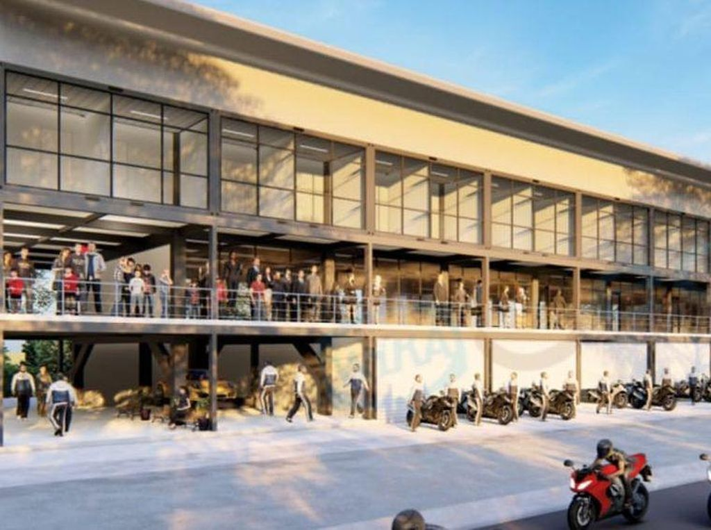 Begini Penampakan Garasi Tim MotoGP yang Mulai Dibangun di Sirkuit Mandalika