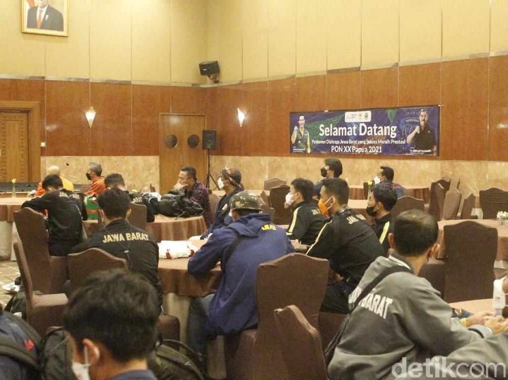 Kontingen Jabar Tiba di Bandung, Siap Karantina di Hotel 5 Hari