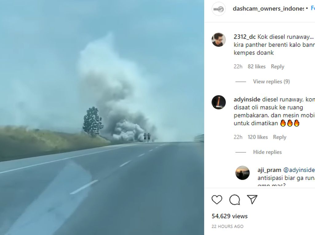 Viral Mobil Ngebul Gara-gara Diesel Runaway, Apa Sebabnya?
