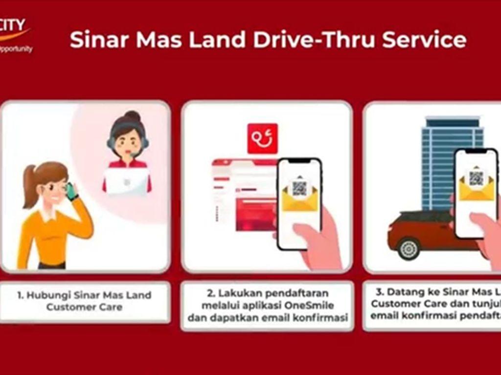 Sinar Mas Land Drive-Thru Service Terintegrasi OneSmile Apps