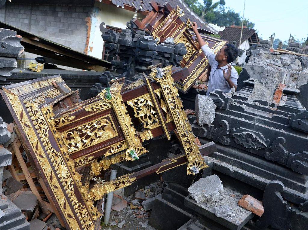 Begini Kerusakan Akibat Gempa M 4,8 di Bali