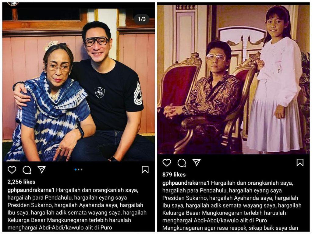 Trah Sukarno Dibawa-bawa di Tengah Isu Suksesi Pura Mangkunegaran