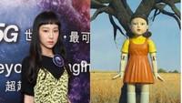7 Foto Penyanyi Cantik yang Viral Disamakan dengan Boneka Maut Squid Game