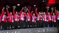 Daftar Juara Piala Thomas: Indonesia 14 Gelar, Disusul China