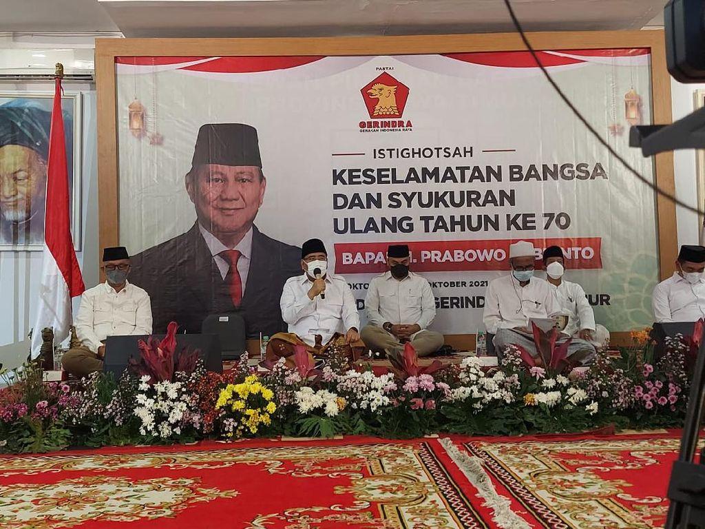 Rayakan Ultah ke-70 Prabowo, Gerindra Jatim Berharap Ketum Nyapres Lagi