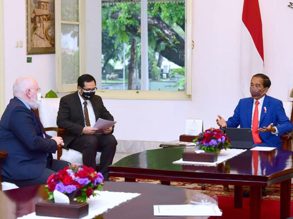 Bertemu Wapres Uni Eropa, Jokowi Tegaskan Komitmen RI Atasi Perubahan Iklim