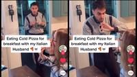Pria Italia Ini Mau Muntah Lihat Istrinya Makan Pizza Dingin Saat Sarapan
