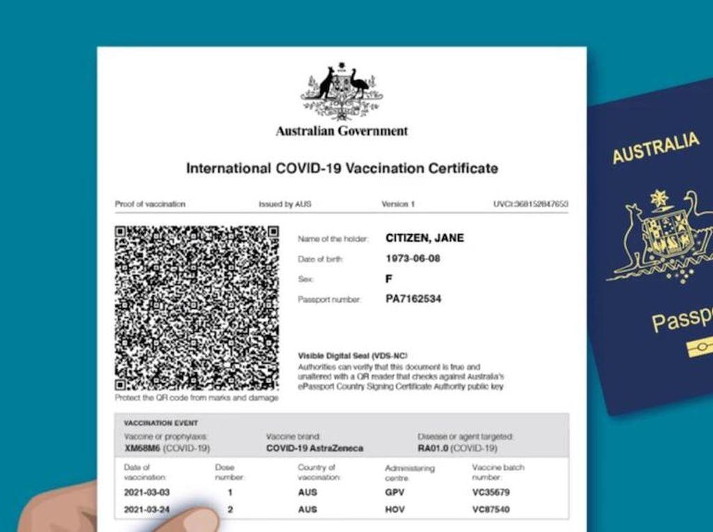 Sertifikat Vaksin COVID Australia untuk Perjalanan Internasional Tersedia Mulai Minggu Ini