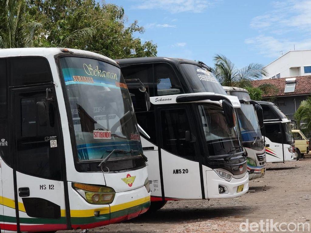 Bus di Probolinggo Terimbas Solar Langka, Ngandang Hingga Penumpang Protes