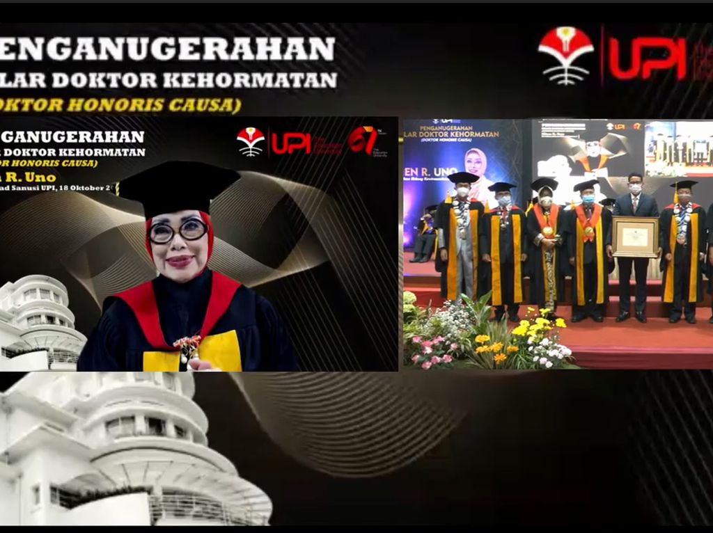 UPI Anugerahi Mien R Uno, Ibu Sandiaga Gelar Kehormatan Bidang Kewirausahaan