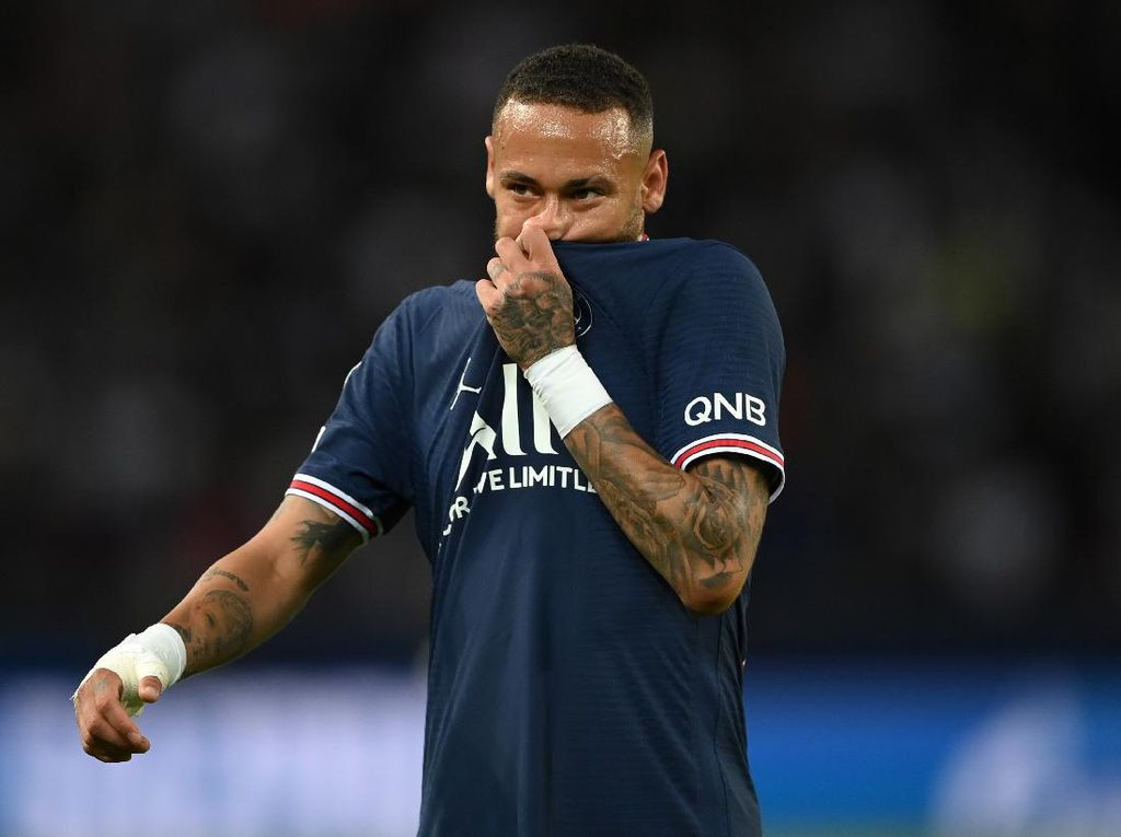 Neymar Cedera, Absen di Laga PSG Vs Leipzig