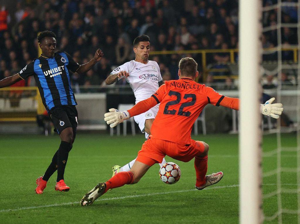 Babak Pertama Club Brugge Vs Man City: The Citizens Unggul 2-0