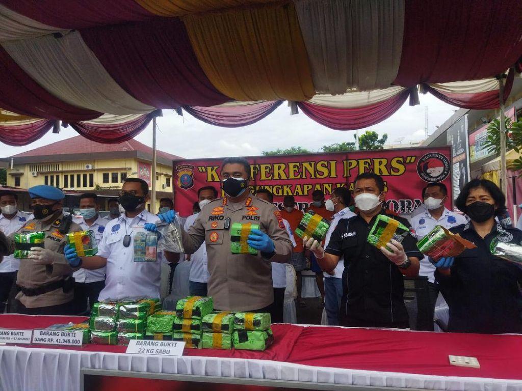 Polisi Tangkap 8 Orang Terkait Kasus Narkoba di Sumut, 23 Kg Sabu Disita