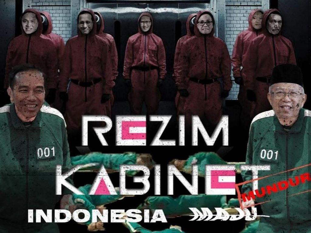 PEMA USU Bikin Poster Ala Squid Game Kritik 2 Tahun Jokowi-Maruf