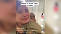 Viral Wanita Ngaku Stres Jadi Ibu Rumah Tangga, Curhat Sambil Nangis Kejer