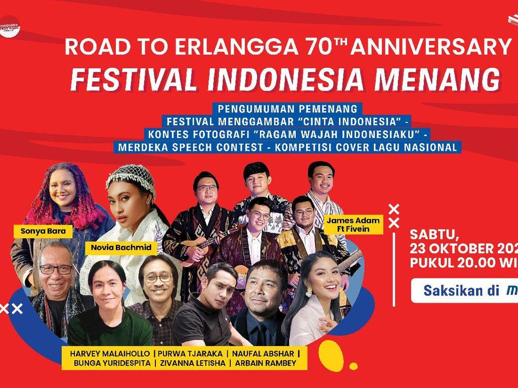 Cinta Tanah Air, Penerbit Erlangga Gelar Festival Indonesia Menang