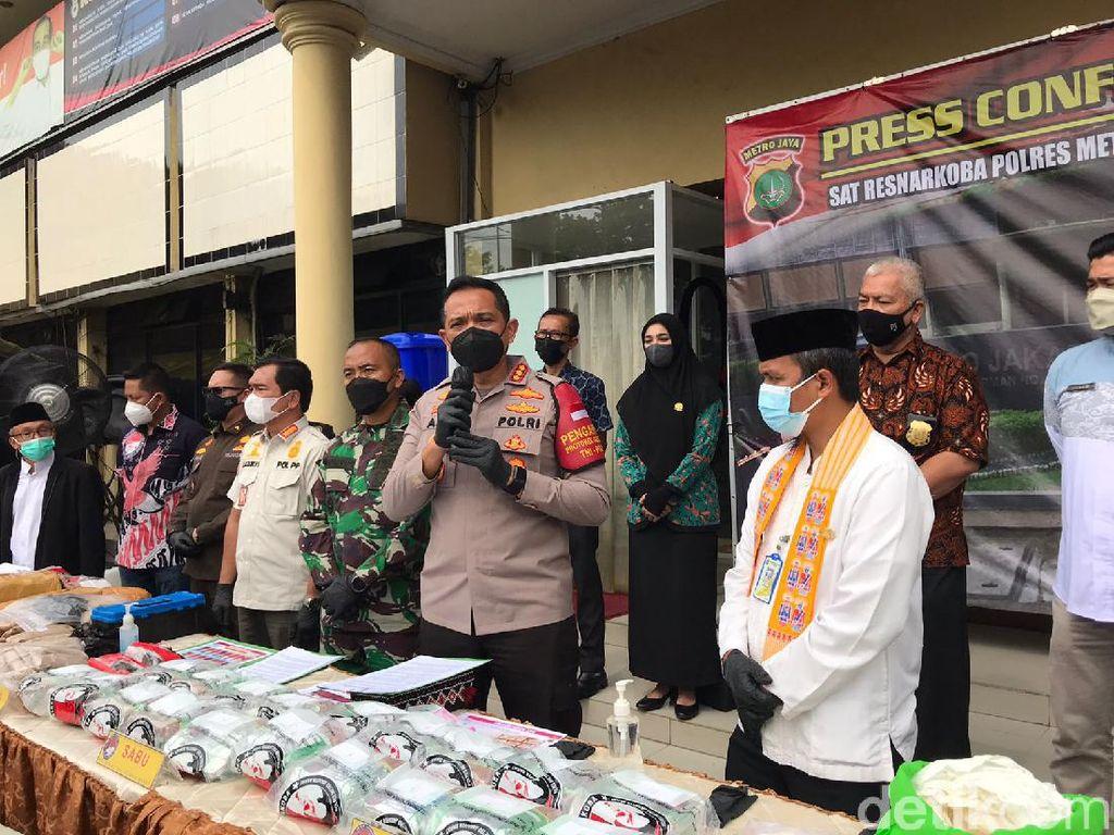 Polres Jakbar Musnahkan 326 Kg Narkoba Hasil Pengungkapan 2 Bulan