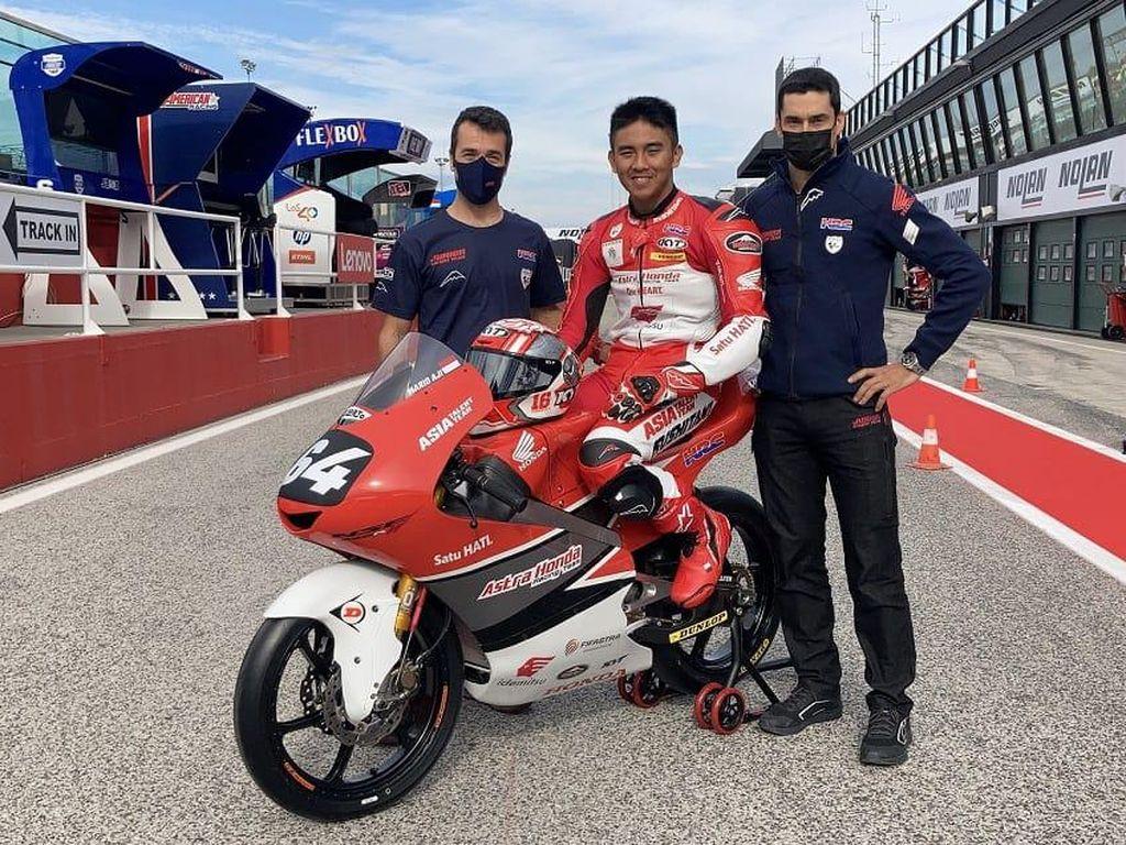 Pebalap Indonesia Mario Aji Debut di Moto3 Emilia Romagna 2021, Pakai Nomor Sakral