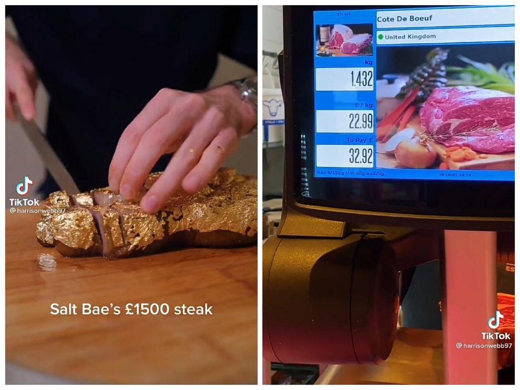 Tiru Steak Salt Bae Seharga Rp 13 Juta, Netizen Ini Hanya Modal Rp 1,2 Juta!