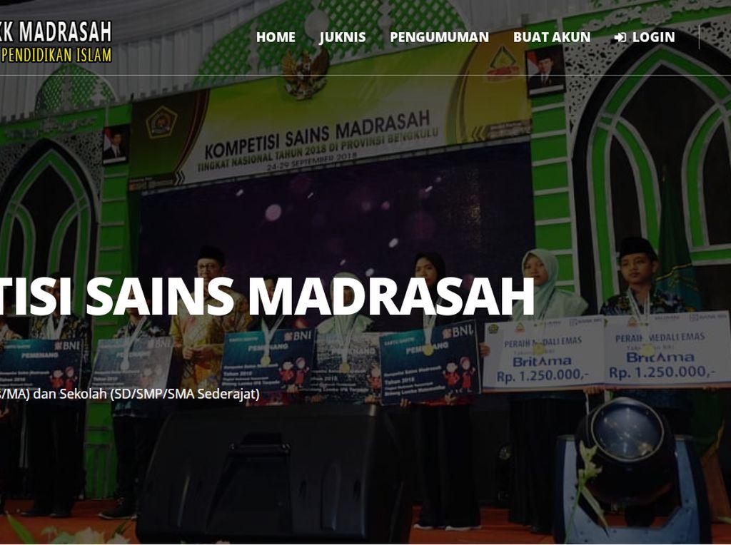 374 Siswa Bertarung di Tahap Akhir Kompetisi Sains Madrasah 2021