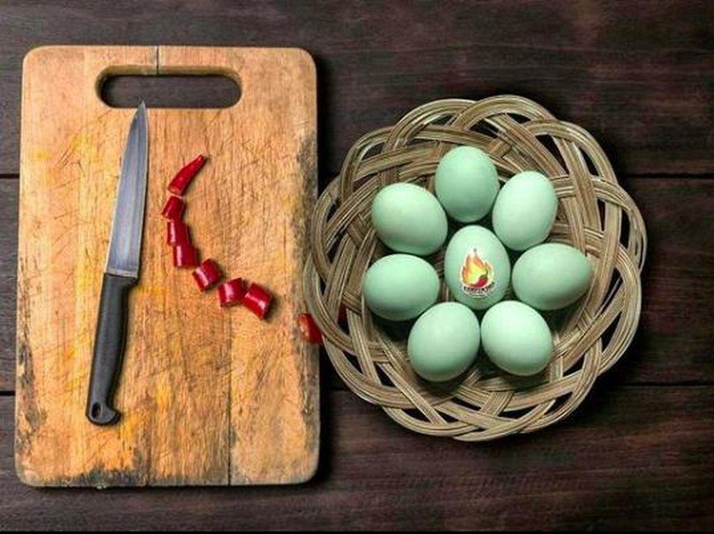 Unik! Ada Telur Asin dengan Sensasi Rasa Pedas, Mau Icip?