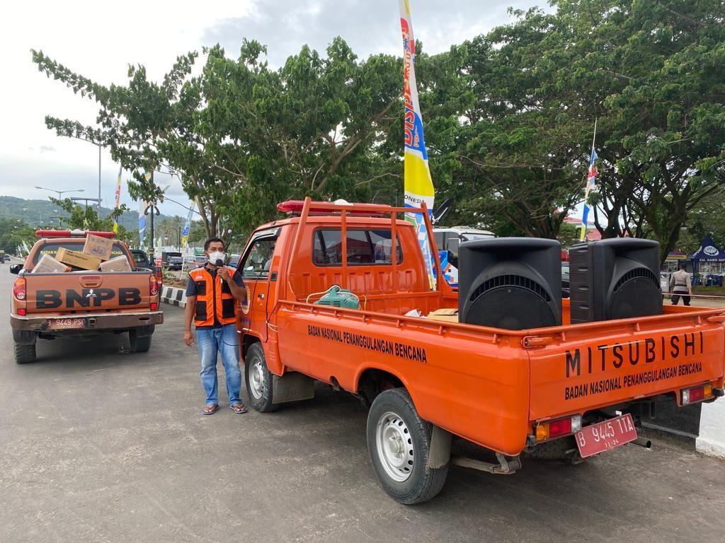 BNPB Bagikan 111.500 Masker Selama STQ Nasional di Maluku Utara