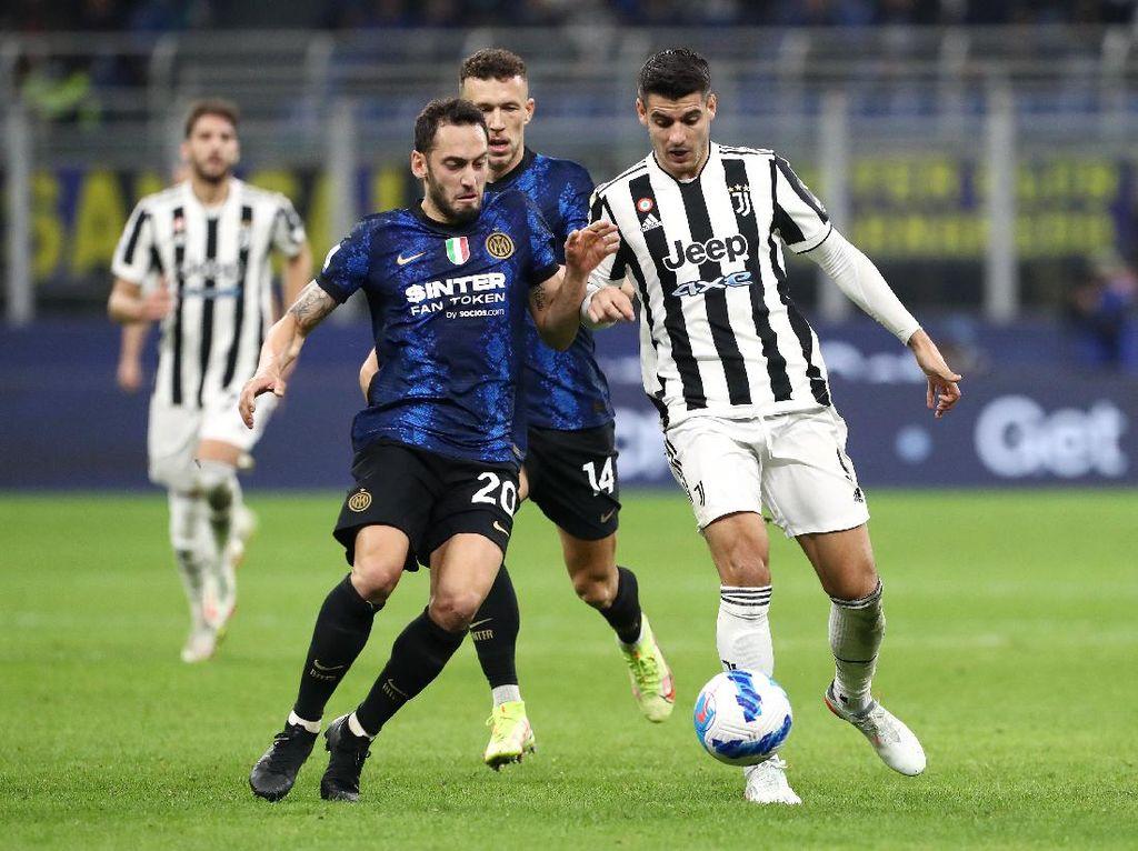 Babak Pertama: Inter Ungguli Juventus 1-0 Lewat Gol Dzeko
